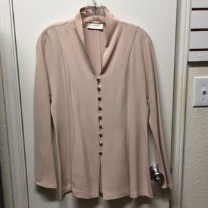 Dana Buchman silk blouse tunic 6 buttery soft